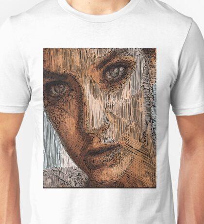 Studio Portrait in Pencil Unisex T-Shirt