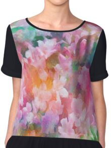 Floral Dance Abstract Chiffon Top