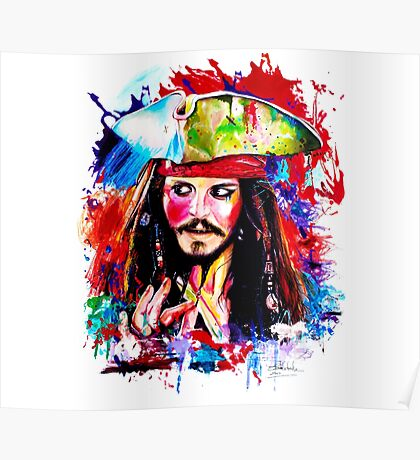 """Captain Jack Sparrow"" Poster"