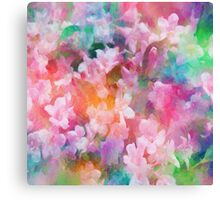 Floral Dance Abstract Canvas Print