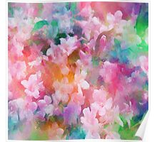 Floral Dance Abstract Poster