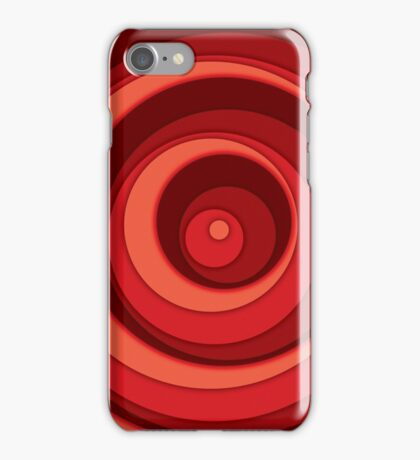Nested Dots - Red iPhone Case/Skin