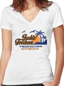 Jackie treehorn Women's Fitted V-Neck T-Shirt