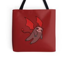 Red Devil Sloth Tote Bag