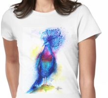"""Blue Crowned Pigeon"" Womens Fitted T-Shirt"