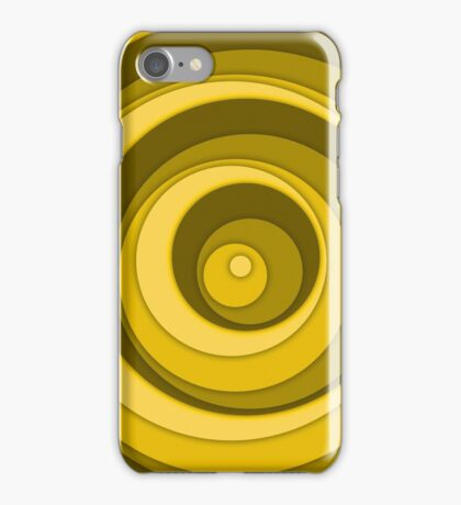 Nested Dots - Yellow iPhone Case/Skin