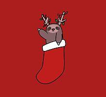 Reindeer Stocking Sloth by SaradaBoru