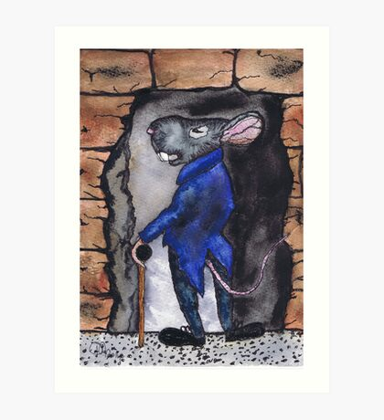 A MOUSE NIGHT OUT Art Print
