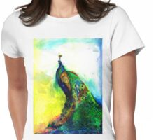 """Peacock"" Womens Fitted T-Shirt"