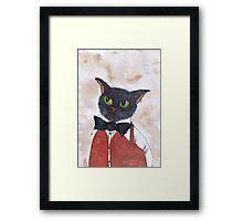 CAT IN BOW TIE Framed Print