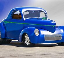 1941 Willys Coupe 'Blue Studio' by DaveKoontz