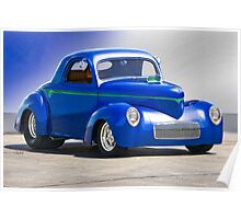 1941 Willys Coupe 'Blue Studio' Poster