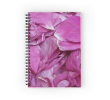 bunch petals red rose Spiral Notebook