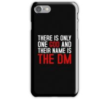 THE DM IS GOD (Dungeons & Dragons) (White) iPhone Case/Skin