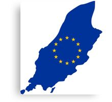 European Union Flag Map of Isle of Man Canvas Print