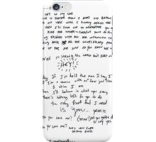 "Handwritten ""Proof"" lyrics by Paramore  iPhone Case/Skin"