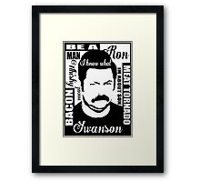 Ron Swanson parks and rec  Framed Print