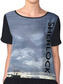 BBC Sherlock Blue Skyline. Shirt, Wallet, Case, Journal, Pillow, and Tote  Chiffon Top