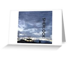 BBC Sherlock Blue Skyline. Shirt, Wallet, Case, Journal, Pillow, and Tote  Greeting Card