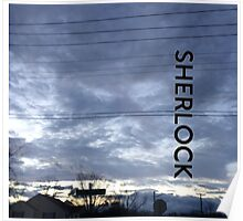 BBC Sherlock Blue Skyline. Shirt, Wallet, Case, Journal, Pillow, and Tote  Poster