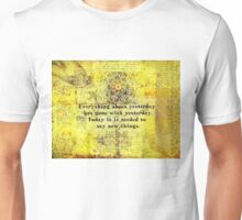 Uplifting, Positive Rumi quote Unisex T-Shirt