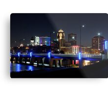 Des Moines Skyline with Orlando Tribute Metal Print