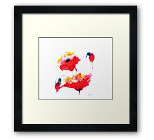 """Two red flowers"" Framed Print"