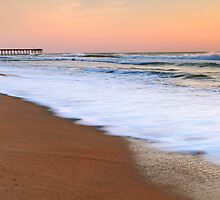 Morning Surf on the Beach, Nags Head, North Carolina by Roupen  Baker