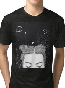 Space Buns Tri-blend T-Shirt