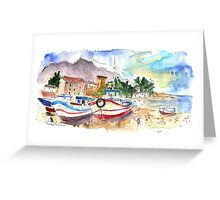 Boats in Porticello 02 Greeting Card