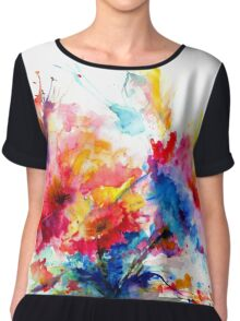 """Watercolor Garden"" Chiffon Top"