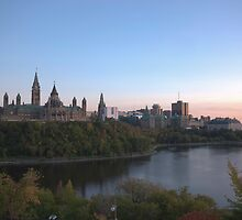 City skyline at dusk - Ottawa, Canada by Josef Pittner