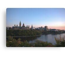 City skyline at dusk - Ottawa, Canada Canvas Print