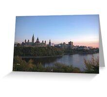 City skyline at dusk - Ottawa, Canada Greeting Card