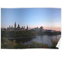 City skyline at dusk - Ottawa, Canada Poster