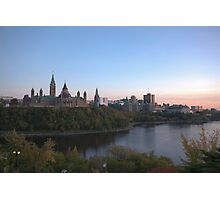 City skyline at dusk - Ottawa, Canada Photographic Print