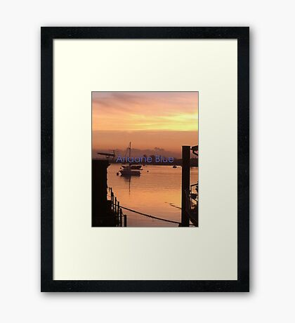 River Crouch Sunset 2 Framed Print