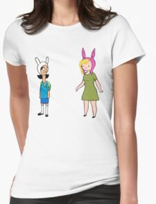 Fionna and Louise Crossover Womens Fitted T-Shirt