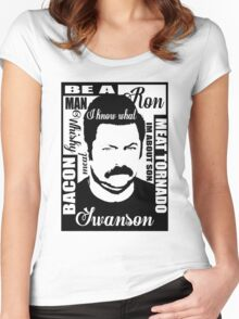 Ron Swanson parks and rec  Women's Fitted Scoop T-Shirt