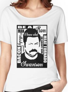 Ron Swanson parks and rec  Women's Relaxed Fit T-Shirt