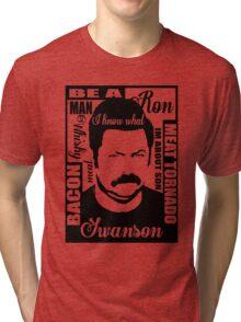 Ron Swanson parks and rec  Tri-blend T-Shirt