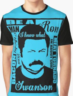 Ron Swanson parks and rec  Graphic T-Shirt