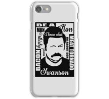 Ron Swanson parks and rec  iPhone Case/Skin