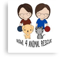 2016 Exclusive Bowl-4-Animal Rescue Design Canvas Print