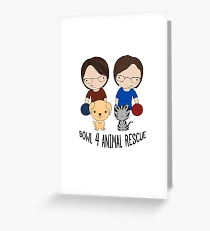 2016 Exclusive Bowl-4-Animal Rescue Design Greeting Card