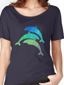 Leaping Dolphins  Women's Relaxed Fit T-Shirt