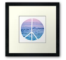 Waves and Peace Framed Print