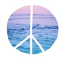 Waves and Peace Photographic Print