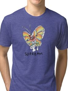 Supreme 'SUPREAM' Butterfly - White/Red/Blue/Grey/Beige Tri-blend T-Shirt