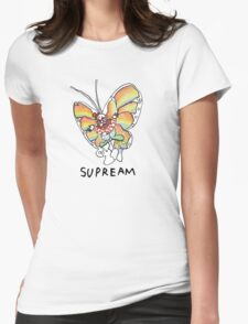 Supreme 'SUPREAM' Butterfly - White/Red/Blue/Grey/Beige Womens Fitted T-Shirt